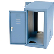 "Computer Cabinet Side Car, Blue, 12-1/8""W x 22-1/2""D x 21-1/2""H"