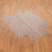 "Chair Mat for Hard Floor, 36""W x 48""L  with 20"" x 10"" Lip, Straight Edge"