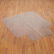 "Chair Mat for Hard Floor, 45""W x 53""L with 25"" x 12"" Lip, Straight Edge"