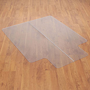 "Chair Mat for Hard Floor, 46""W x 60""L with 25"" x 12"" Lip, Straight Edge"