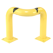 "Tripple Elbow Corner Guards, Steel, 24""H X 30""L, Yellow"