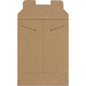 "6""Wx8""L Stayflat Mailer, Kraft, 100 Pack"