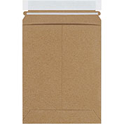 "7""Wx9""L Self-Seal Stayflat Mailer, Kraft, 100 Pack"