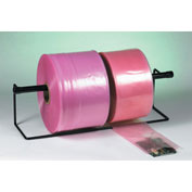 "2"" x 1075' Anti-Static Poly Tubing, 4 Mil Pink Roll"