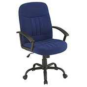 Executive Office Chair, Fabric Upholstery, Blue