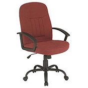 Executive Office Chair, Fabric Upholstery, Burgundy