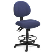 24-Hour Stool Pneumatic Height Adjustment, Blue