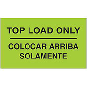 "3"" x 5"" Top Load Only Bilingual Labels, Fluorescent Green, 500 Per Roll"