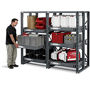 RELIUS SOLUTIONS Roll-Out Shelf Rack - 56x36x85""