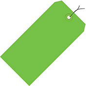 "Pre-Wired Colored Shipping Tags - 5-1/4""Wx2-5/8""L - Case of 1000 - Light Green"