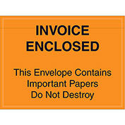 "4-1/2""x6"" Orange Invoice Enclosed, Full Face, 1000 Pack"