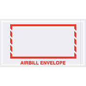 "5-1/2"" x 10"" Airbill Envelope, Red Border, 1000 Pack"