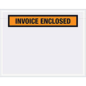 "7""x5-1/2"" Orange Invoice Enclosed, Panel Face, 1000 Pack"