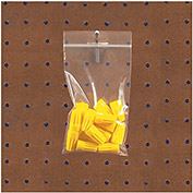 Reclosable Poly Bags with Hang Hole - 4 Mil - Case of 1000