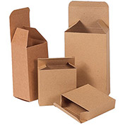 "Kraft Folding Cartons - 3x3x6"" - Case of 250"
