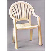 Fanback Stacking Outdoor Armchair - Sand - Pkg Qty 4