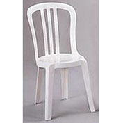 Miami Bistro Resin Stacking Outdoor Sidechair White - Pkg Qty 32
