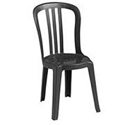 Miami Bistro Resin Stacking Outdoor Sidechair Black - Pkg Qty 32