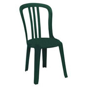 Miami Bistro Resin Stacking Outdoor Sidechair Green - Pkg Qty 4