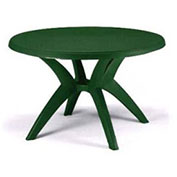 "Ibiza Best Value 46"" Outdoor Round Resin Table with Umbrella Hole - Green"