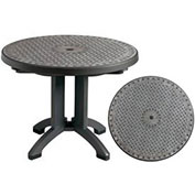 "Toledo 38"" Round Outdoor Folding Table - Chain Link Design"