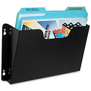 Buddy Products Steel Wall File Pockets Letter Size - Black