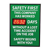 NMC DSB2 Digital Safety Scoreboard Sign - Safety First, This Company, Lost Time