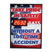 NMC DSB50 Digital Safety Scoreboard Sign - Take Pride in Safety