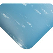 """Wearwell Antimicrobial Tile Top Anti-Fatigue Mat, 1/2"""" Thick, 24x36, Blue"""