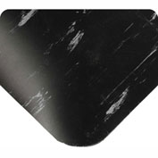 """Wearwell Antimicrobial Tile Top Anti-Fatigue Mat, 1/2"""" Thick, 36x60, Black"""