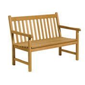 4' Classic Backed Bench with Arms