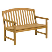4' Chadwick Backed Bench with Arms