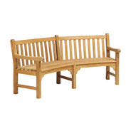 """Essex Curved 83"""" Backed Bench with Arms"""