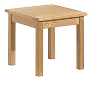 "18"" Square Outdoor End Table - Teak"