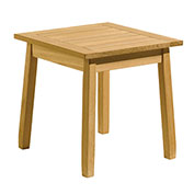 "20"" Square Outdoor End Table - Teak"