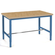 "Production Workbench - Shop Top Square Edge - Blue, 96""W x 36""D"