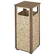 12 Gallon Flat Top Waste Receptacle, Brown