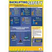 NMC PST001 Poster, Back Lifting Safety, 24 x 18