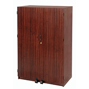 """Security Computer Cabinet, Wood Laminate, 35-1/4""""W x 20-1/2""""D x 55""""H"""