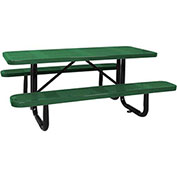 "96"" ADA Picnic Table, Surface Mount, Green"