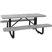 "96"" ADA Picnic Table, Surface Mount, Gray"