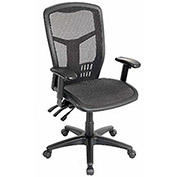 Multifunction High Back Chair, Premium Mesh, Black