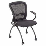 Nesting Chair, Web Mesh Back, Fabric Upholstered Seat - Pkg Qty 2