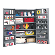 Bin Storage Cabinet With Shelving In Doors And Interior, 38x24x72
