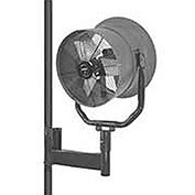 "Triangle Engineering 24"" Oscillating Horizontal Mount Fan With Poly Housing 1/2 HP 5600 CFM 3 Phase"