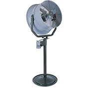 "Triangle Engineering 24"" Pedestal Fan With Poly Housing 1/2 HP 5600 CFM 3 Phase"