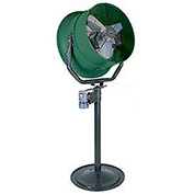 "Triangle Engineering 30"" Pedestal Fan With Poly Housing 1 HP 10600 CFM Single Phase"