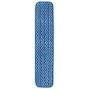 "RUBBERMAID HYGEN Microfiber Pads for Microfiber Mopping System - Blue Wet Pad - 18"" - Pkg Qty 12"