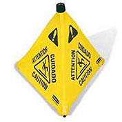 Rubbermaid® Pop-Up Safety Cone - Pkg Qty 12