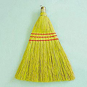 "10"" Wooden Whisk Broom W/ Corn Fiber Bristles, 12/Pack"